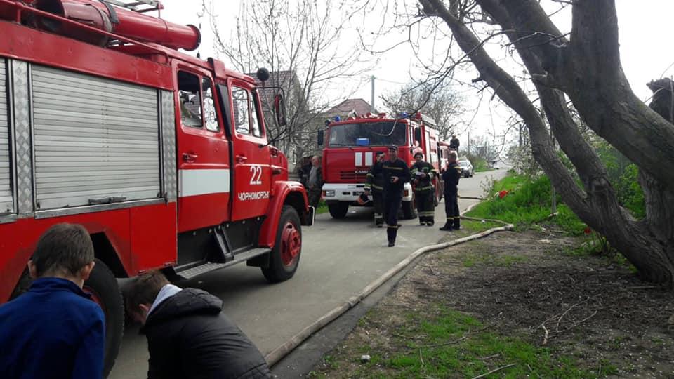 Пожар в Одесской области: загорелся дом (фото) «фото»
