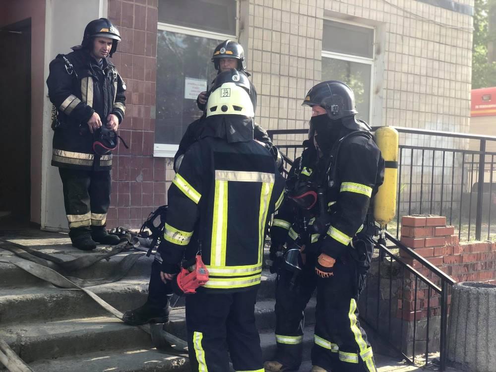 В Одессе в горбольнице №10 случился пожар (фото) «фото»