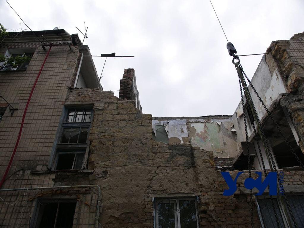 В доме на Хуторской, где произошел взрыв, рухнула стена (фото, аудио) «фото»