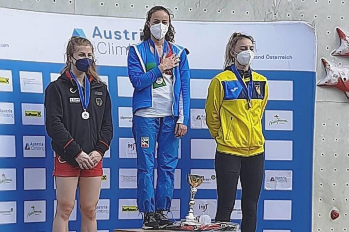 Одесситка заняла третье место на Кубке Европы по скалолазанию «фото»