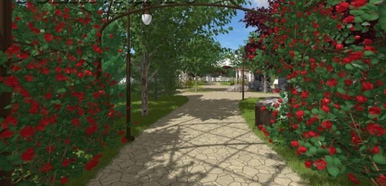 Туннель из цветов, розарии и стилизованные арки: в Южном построят новый сквер за 10,7 миллионов (фото) «фото»