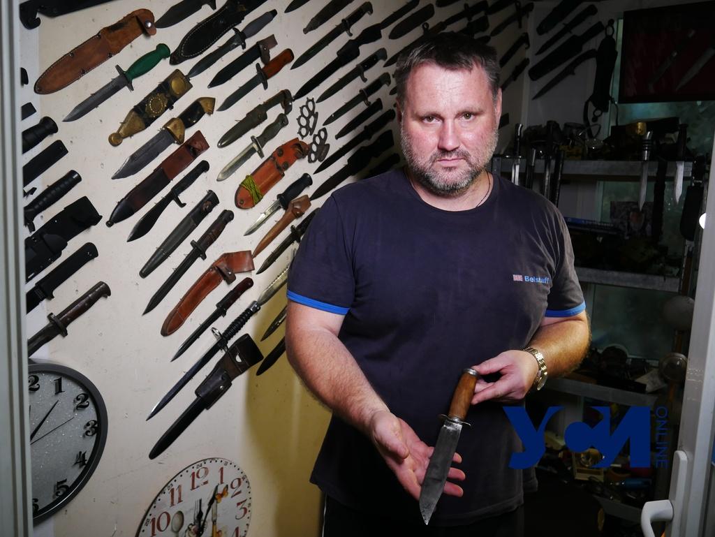 Ножи криминального «авторитета» и советского командира: житель Черноморска собрал 150 экземпляров (фото, аудио) «фото»