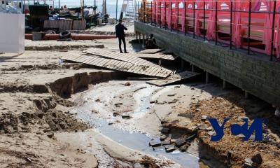 Последствия урагана в Аркадии: провалы и «озера» (фото) «фото»
