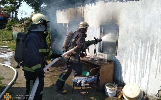 Пожар в Одесской области: сгорела летняя кухня (фото) «фото»