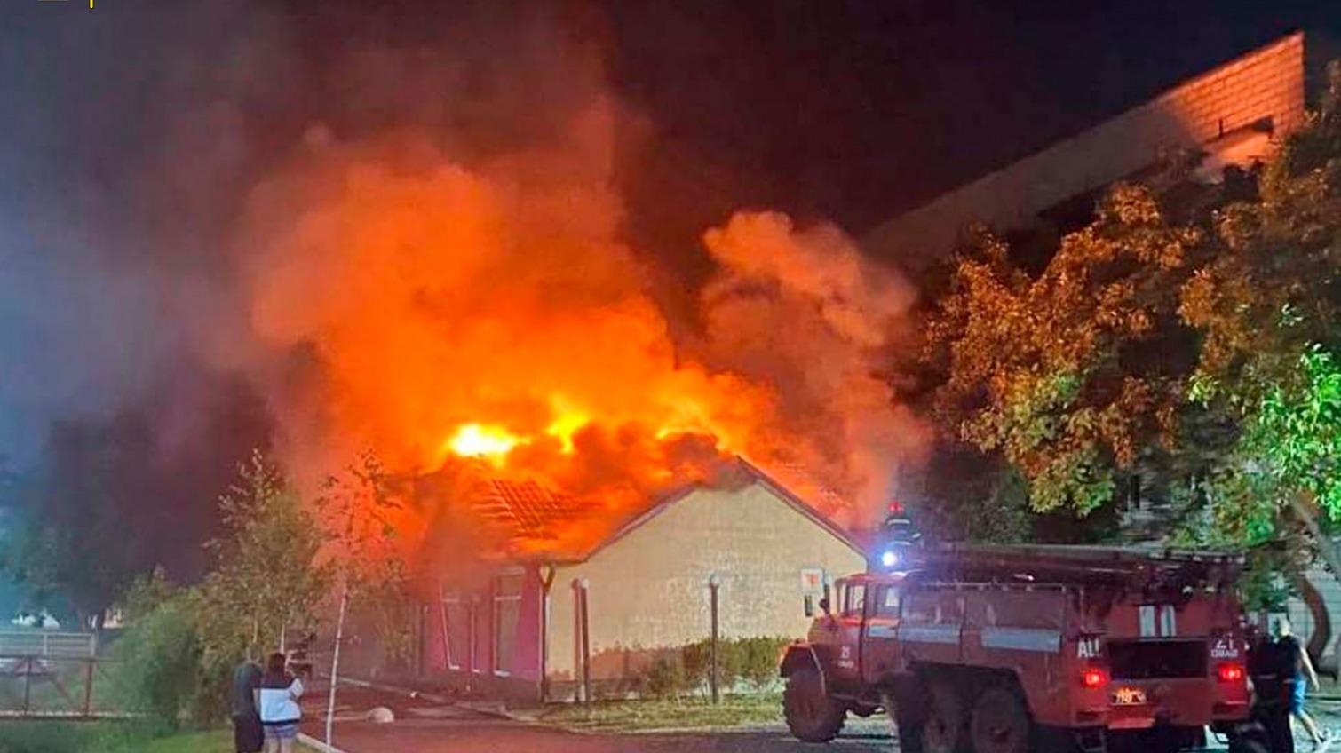 В Измаиле ночью горел бар «фото»