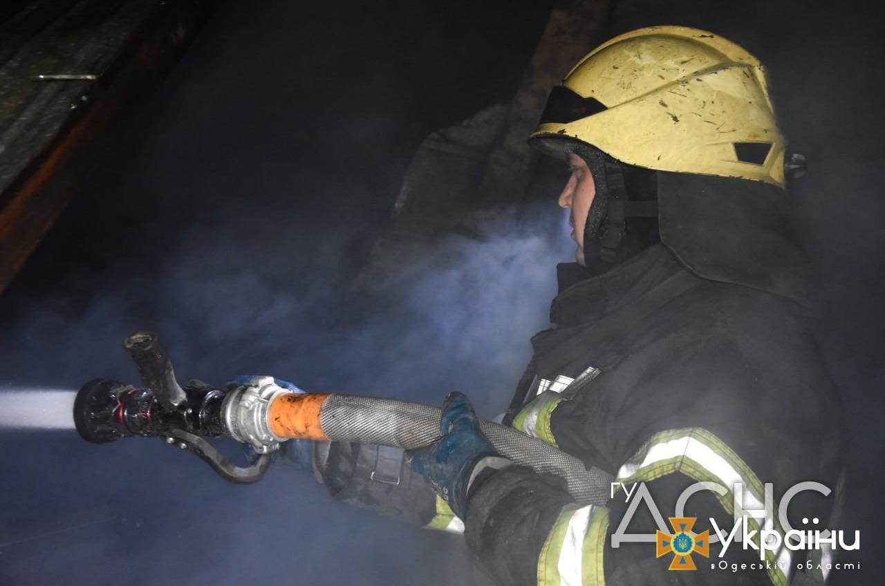 В Одесской области на пожаре спасли человека «фото»