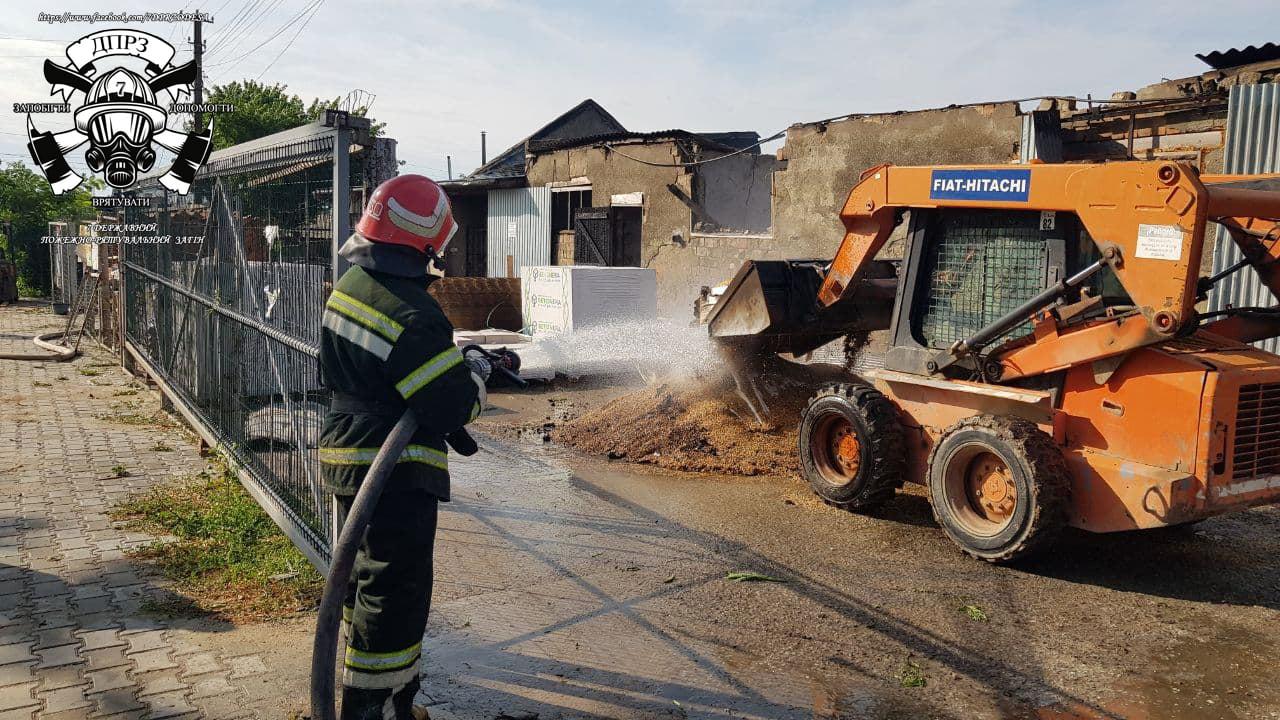 В Одесской области сгорел большой магазин стройматериалов (фото) «фото»