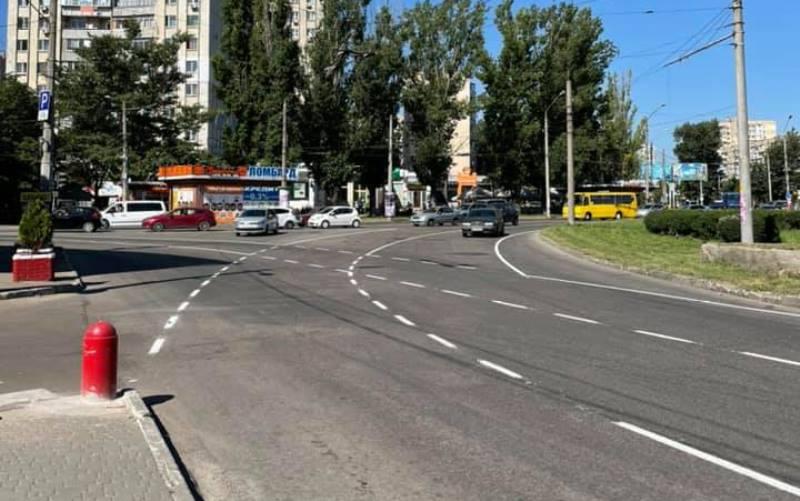 На площади Независимости в Одессе схема движения изменилась на «турбокольцо» «фото»
