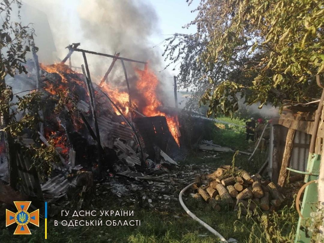 В Одесской области сгорело 10 тонн сена (фото) «фото»