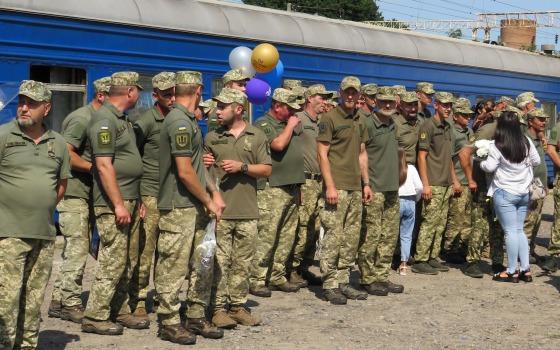 В Подольск из зоны ООС вернулся батальон «Киевская Русь» (фото) «фото»