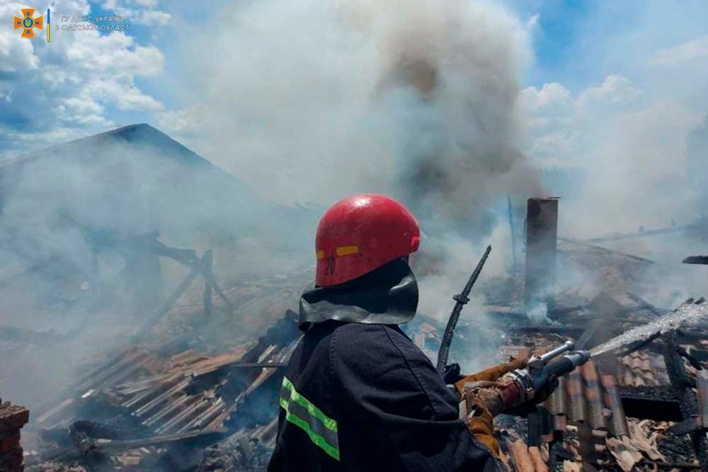 В Измаильском районе горел мясокомбинат (фото) «фото»