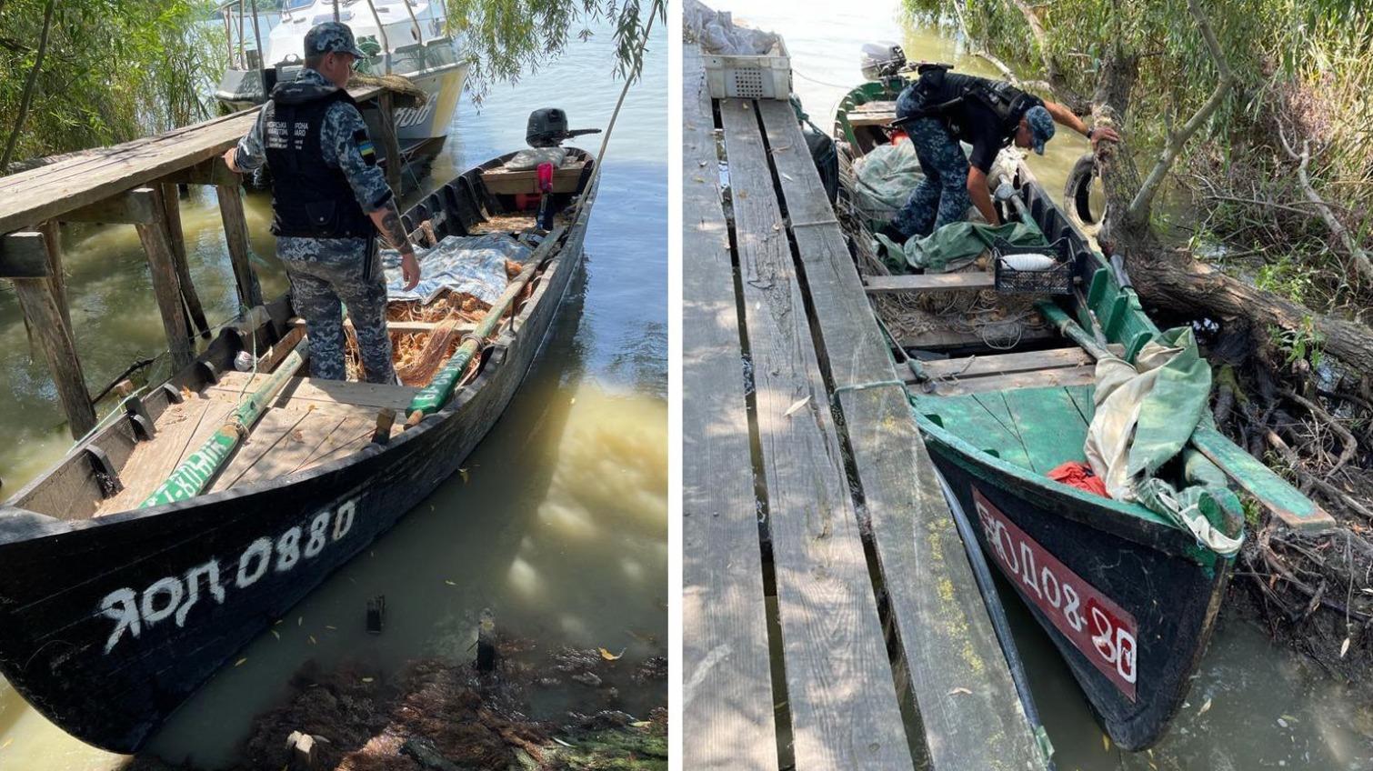 С одинаковыми номерами: на Дунае задержали рыболовные лодки-близнецы «фото»