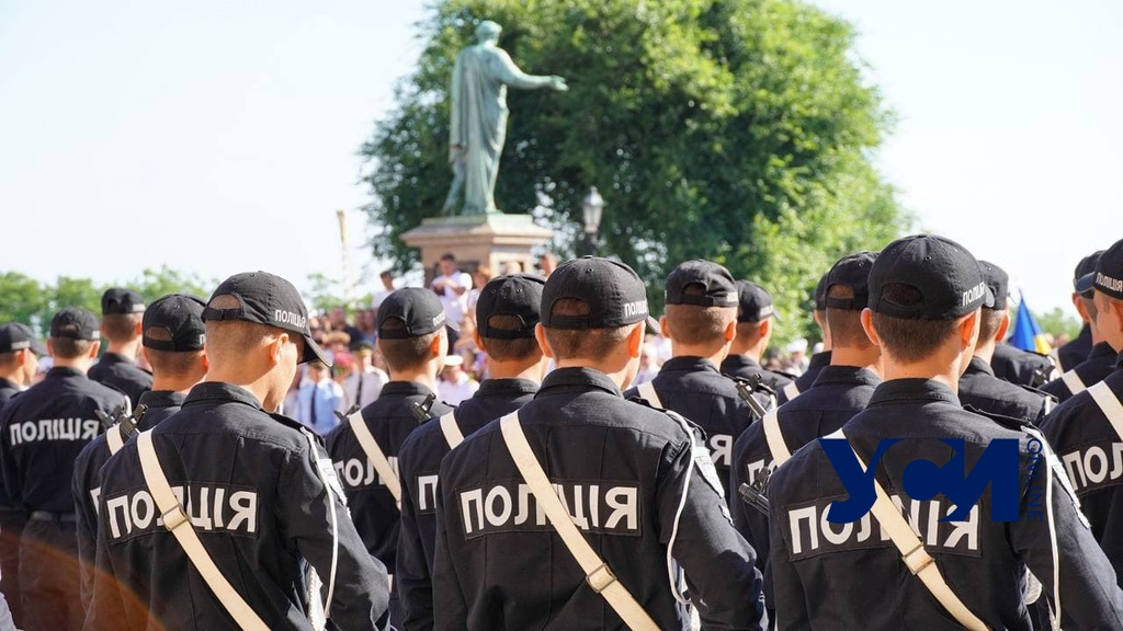 Выпуск новых полицейских прошел у памятника Дюку (фото, аудио) «фото»