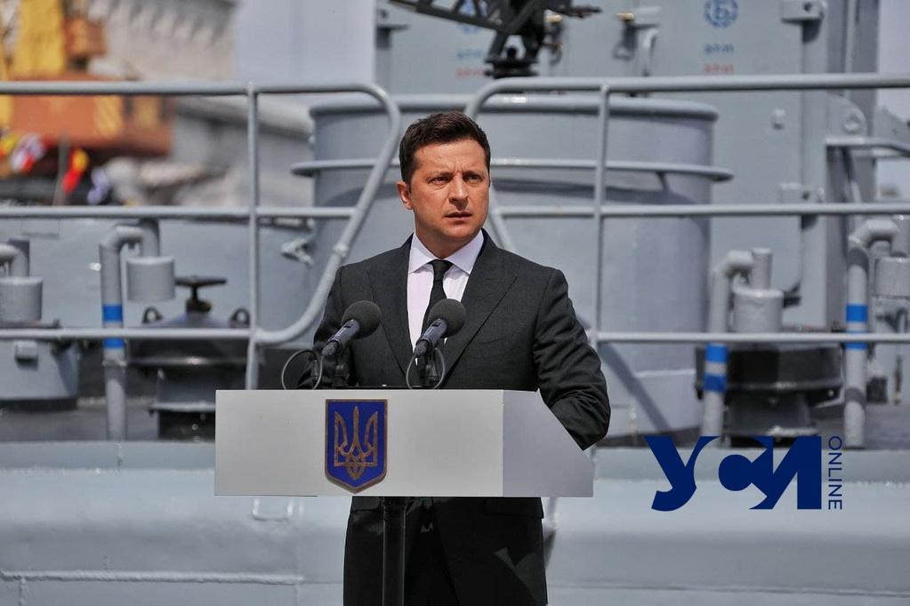 В честь Дня ВМС в Одессу прибыл Президент Украины (фото, видео) «фото»