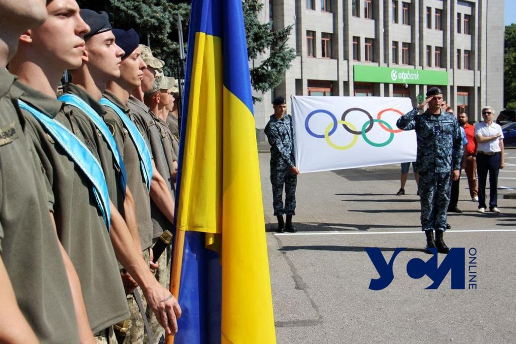В Одессе подняли Олимпийский флаг (фото) «фото»
