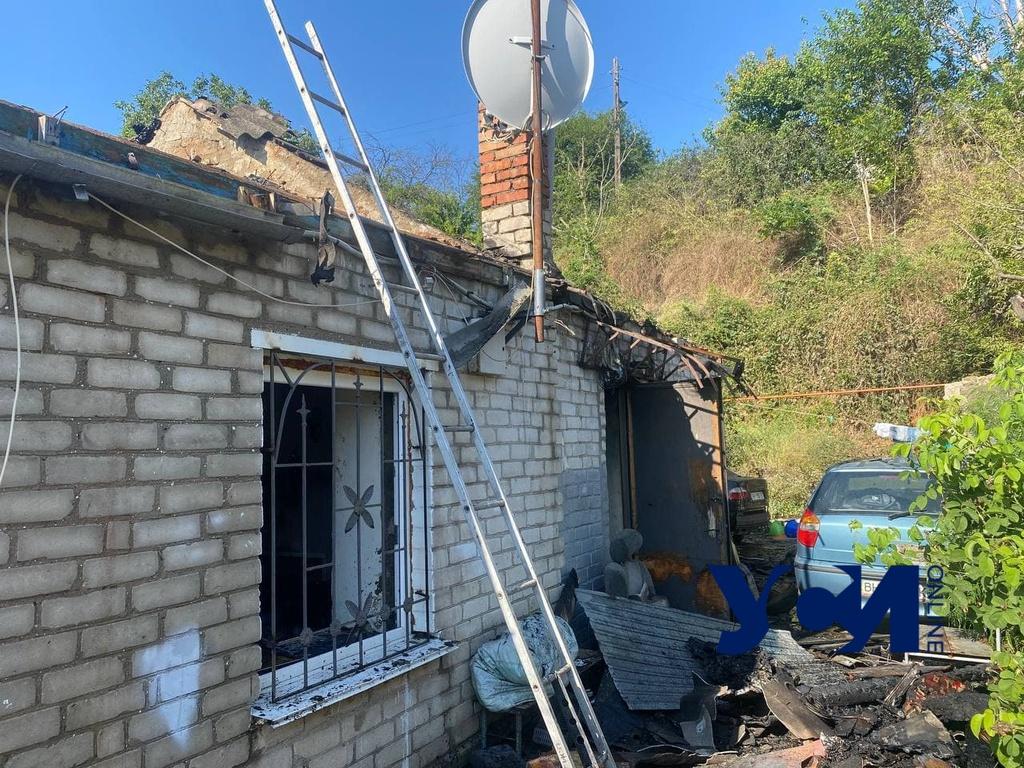 На Слободке горел жилой дом (фото) «фото»