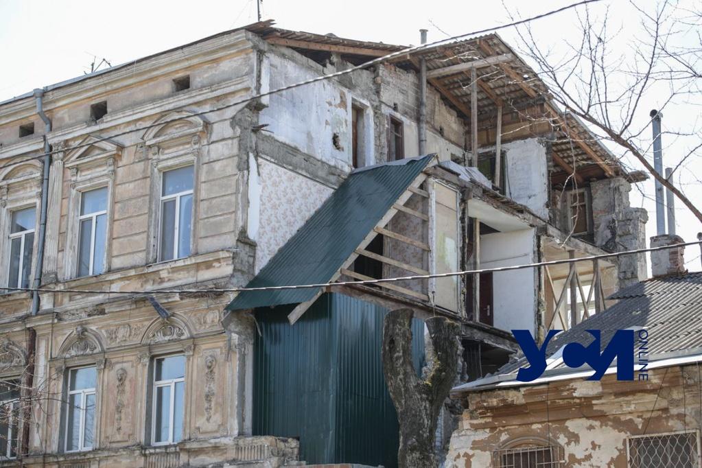 Рухнувший памятник архитектуры в центре Одессы восстановят за 4,5 миллионов «фото»