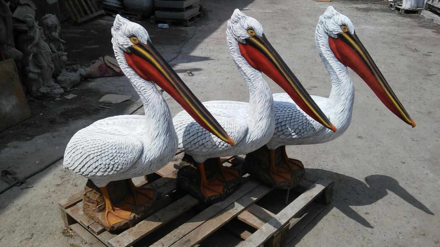 В дельте Дуная установят скульптуры пеликанов – чтобы привлечь живых (фото) «фото»