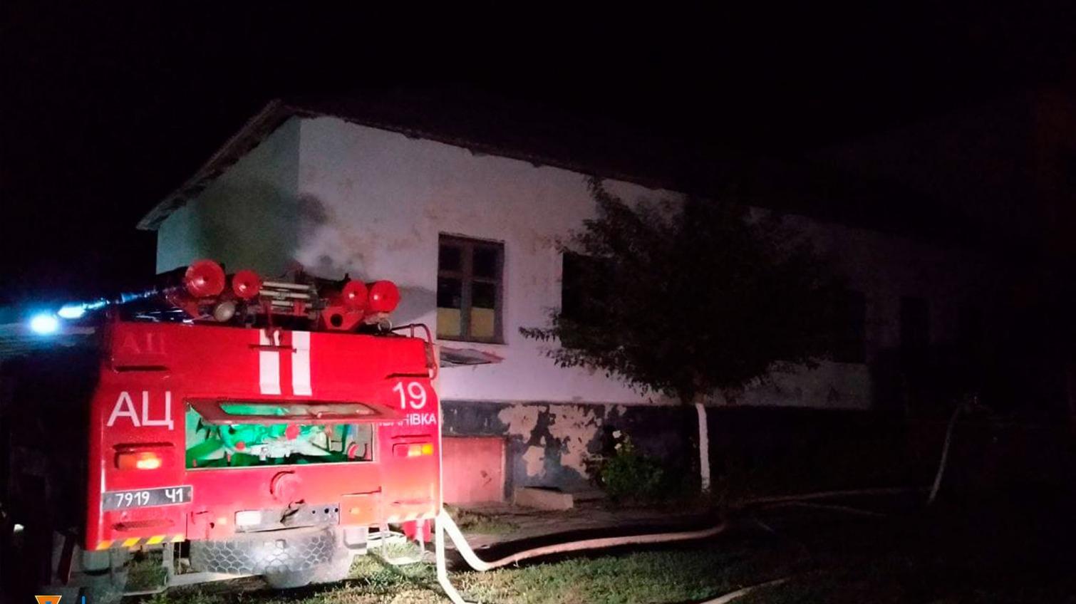 В Одесской области горела школа (фото) «фото»