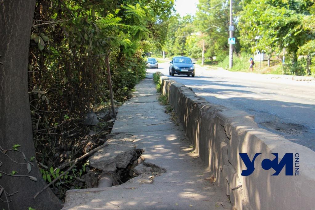 На мосту в Одессе появились аварийные участки (фото) «фото»
