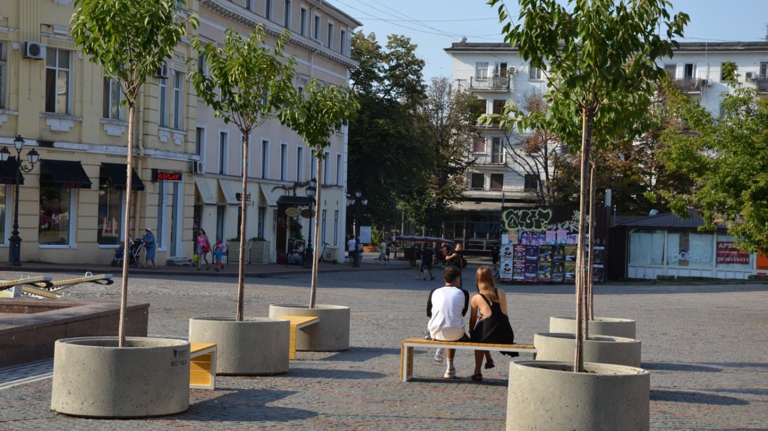 На Греческой площади завершили работы: что получилось (фото) Обновлено «фото»