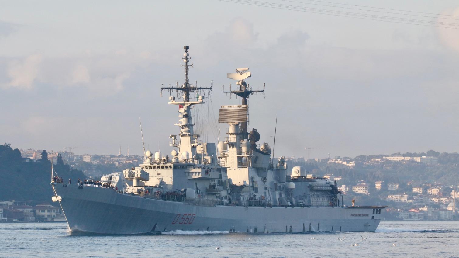 Итальянский ракетный эсминец вошел в воды Черного моря (фото) «фото»