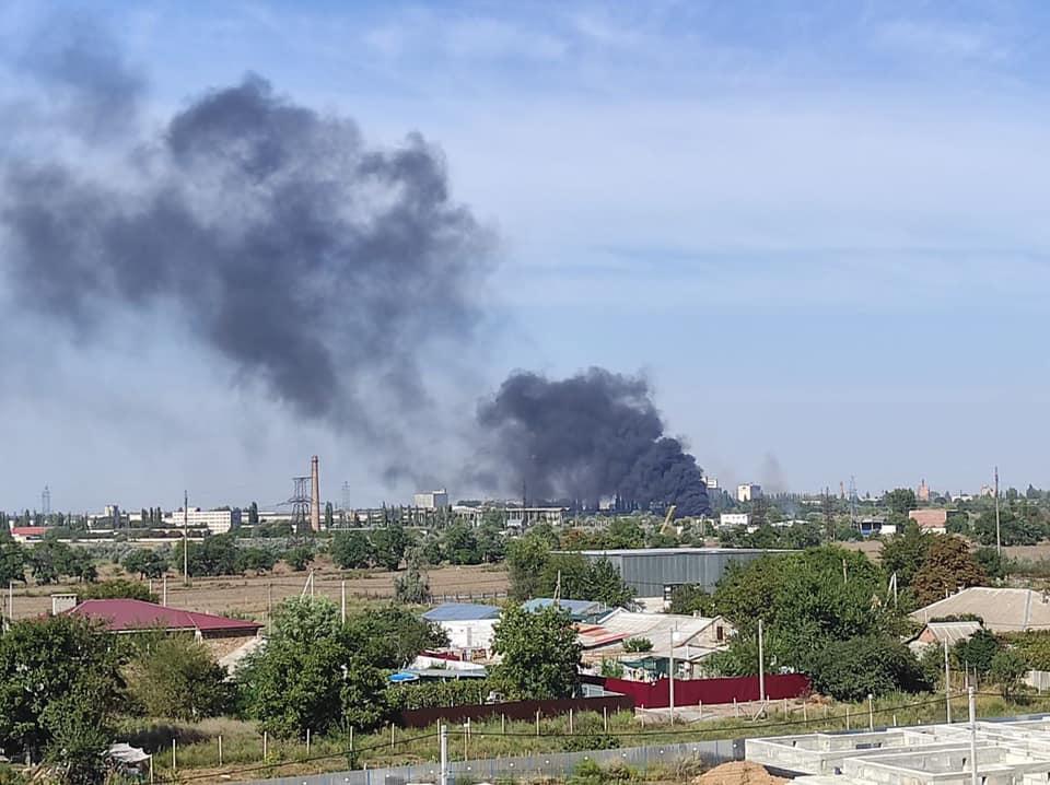 У завода Центролит произошел пожар (фото) Обновлено «фото»