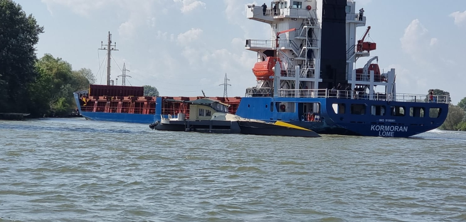 Авария на Дунае: сухогруз из Рени врезался в прогулочные яхты (фото) «фото»