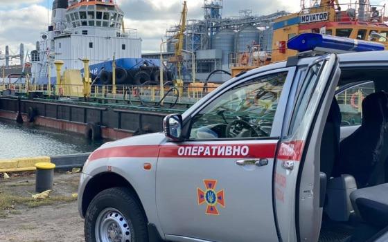 В Одесском порту учились бороться с химической угрозой (фото) «фото»