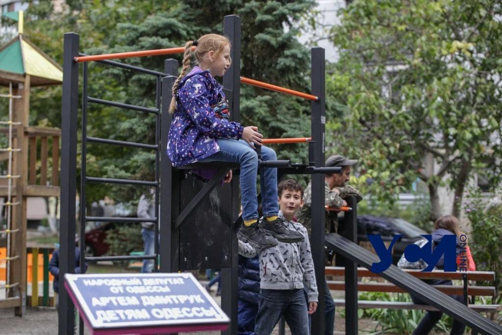 «Сделано на года»: на Таирова появилась новая спортивная площадка (фото) «фото»