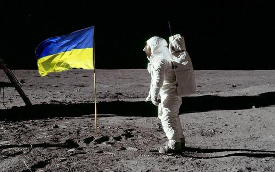Украинский флаг отправят на Луну (фото) «фото»