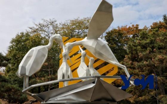 В парке Победы открыли арт-объект в защиту аистов (фото) «фото»