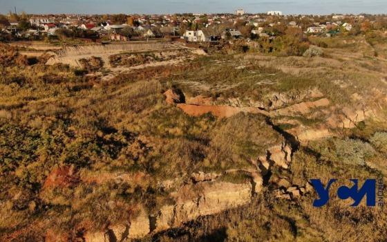 Оползень в Фонтанке с высоты полета: скол 50 метров в длину (фото) «фото»